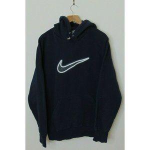 Nike Xl Blue Pullover Hoodie Sweatshirt Swoosh